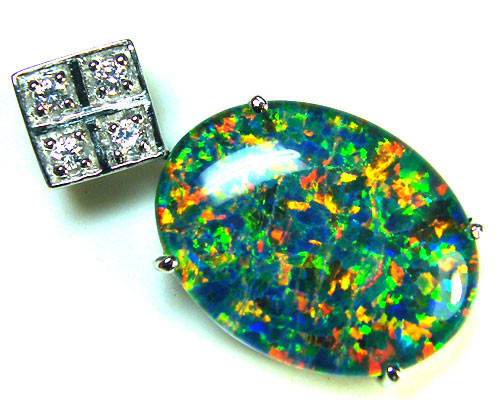 BEAUTIFUL BRIGHTLARGE   OPAL PENDANT      ML557