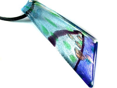 STYLISH  LARGE VENETIAN GLASS PENDANT  40 CTS  RN568