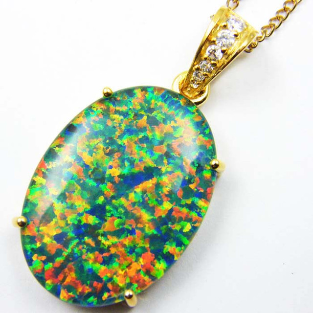 FASHION OPAL PENDANT CJ 1657