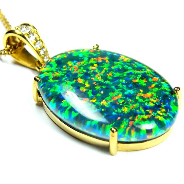 FASHION OPAL PENDANT CJ 1658
