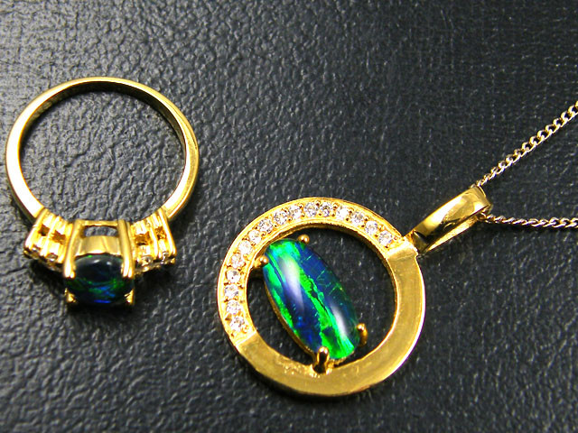 MATCHING OMI OPAL PENDANT AND RING  SG 2365