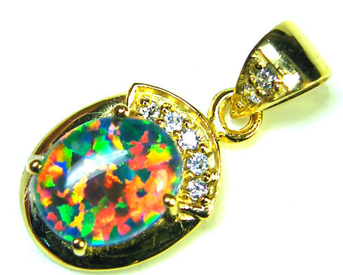BEAUTIFUL BRIGHT  OPAL PENDANT      ML548
