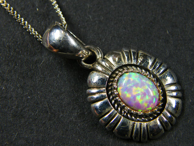 IMO OPAL   STERLING SILVER PENDANT    MYT648