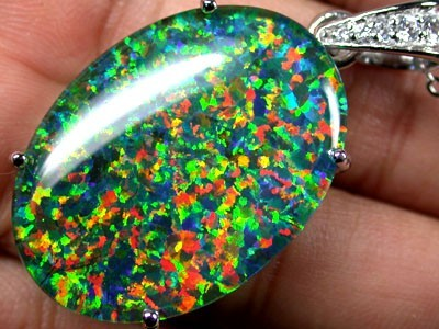POPULAR FASHION OPAL PENDANTS RHODIUM PLATED MYJA 906
