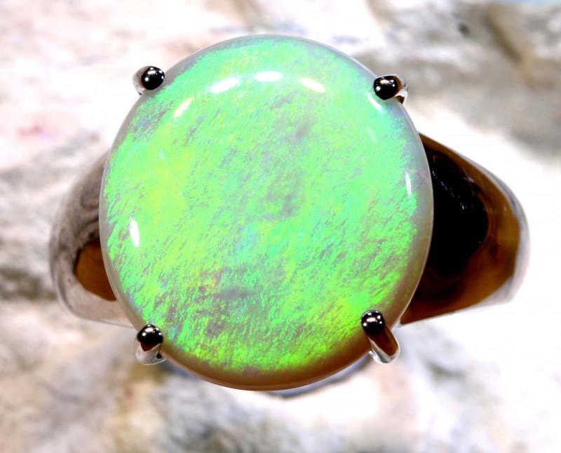 Natural Australian Solid Opal Ring Laz-M974
