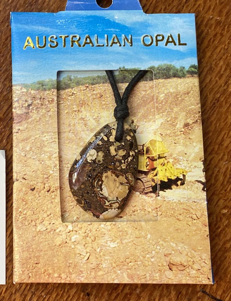 Cts Queensland Boulder opal Pendant n pair  NA   483