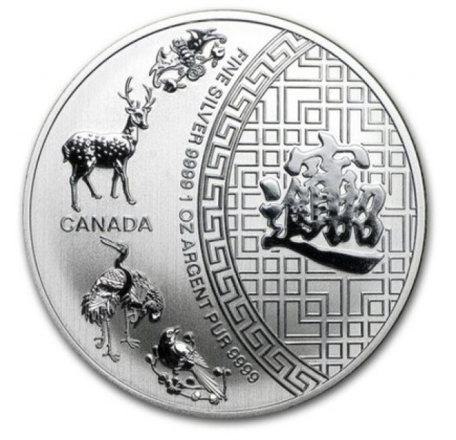 Canadian Blessings 2016 one ounce silver .9999 Pure Silver coin