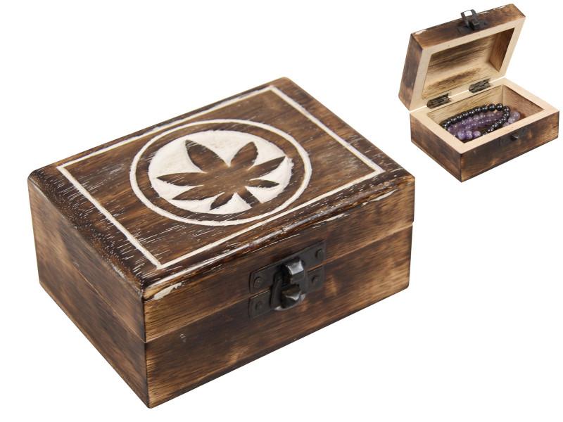Mango Wood Leaf  jewellery Box   code  BOXLEAF