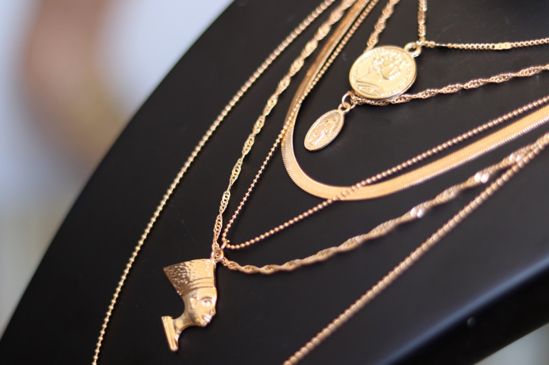 Bohemia  Lightweight Gold necklace CCC 173