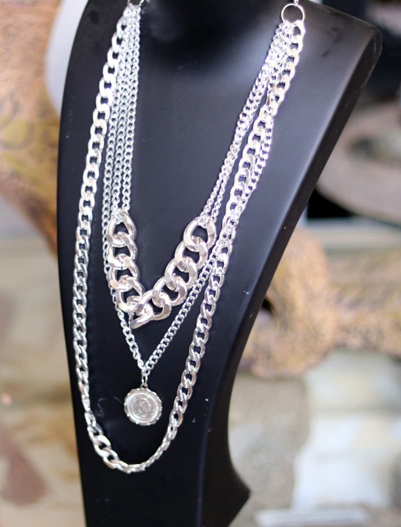 Bohemia  Lightweight Silver Necklace CCC 187