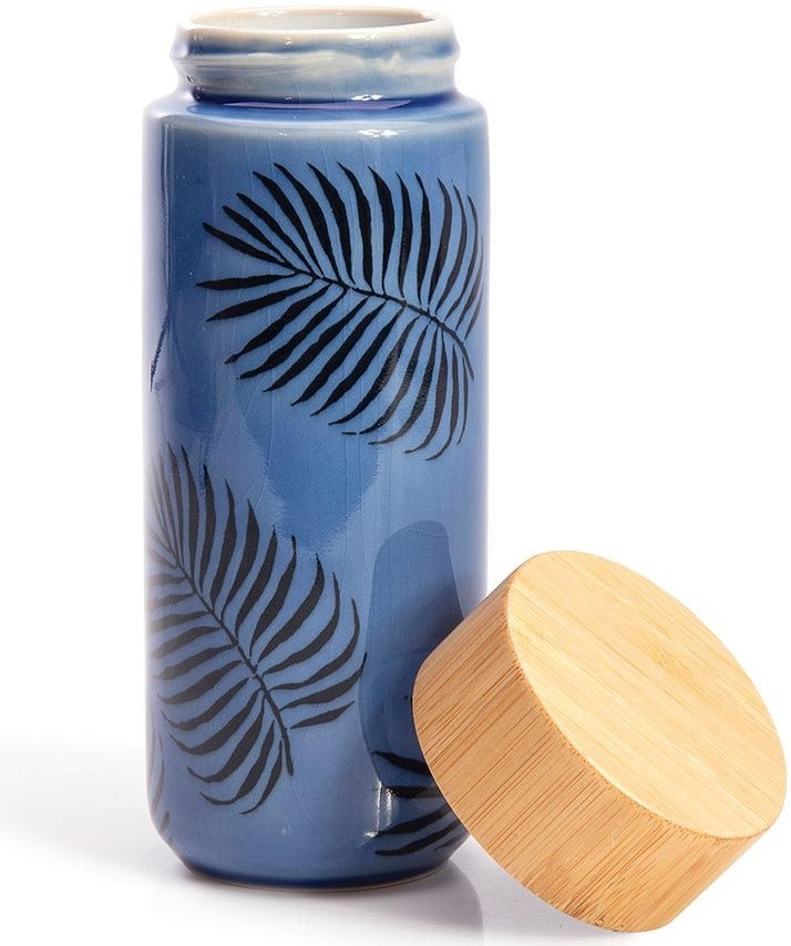 Leaf Eco Bottle Double Walled Ceramic code 12006