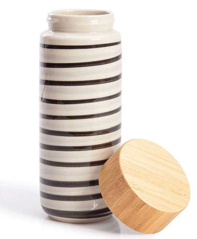 Striped Eco Bottle Double Walled Ceramic code 12006