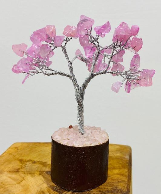 Rose Quartz  Gemstone Tree wire wrap code CCC 200