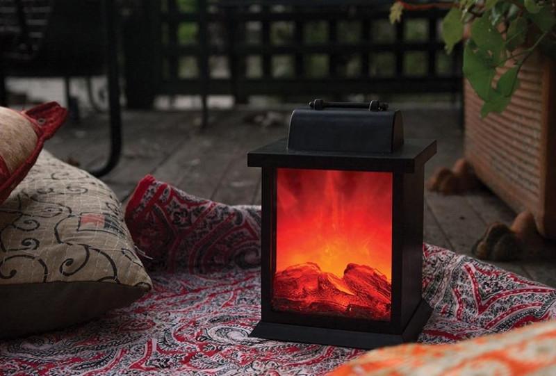 LED Fireplace Lantern    code 17055