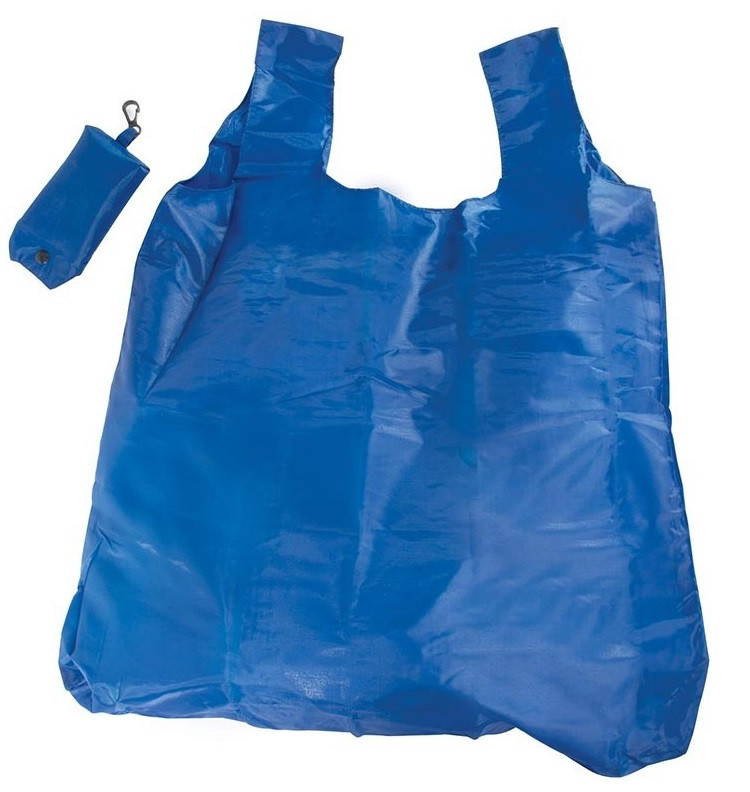 Blue Foldable Shopper With Clip  code 35405