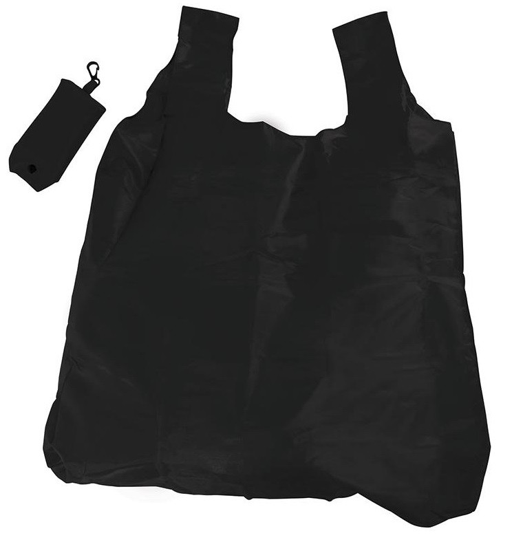 Black Foldable Shopper With Clip code 35405