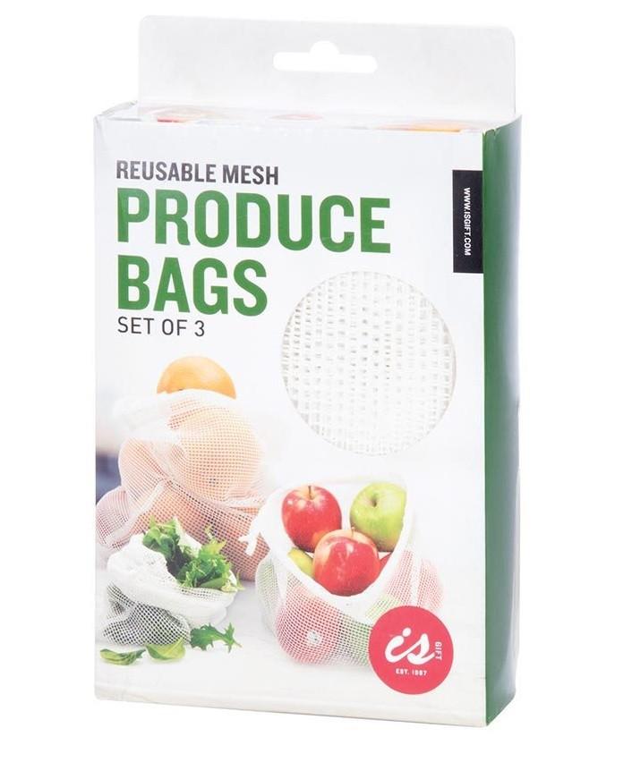 Reusable Mesh Produce Bags  3pcs   code 35396