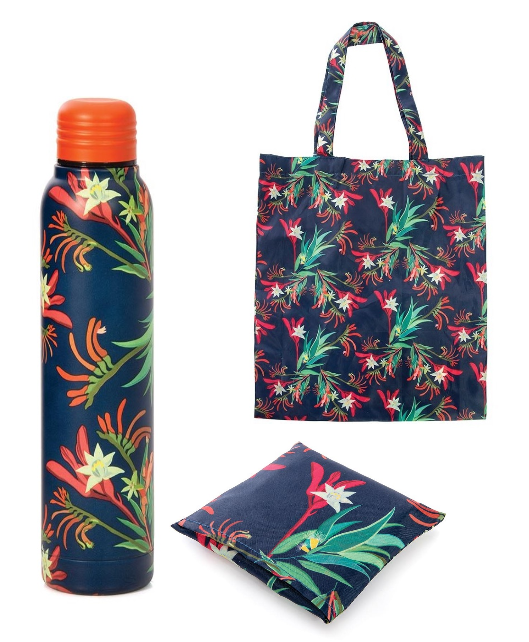Promotion of Red/Blue Water Bottle and Foldable Bag code 15077/15172