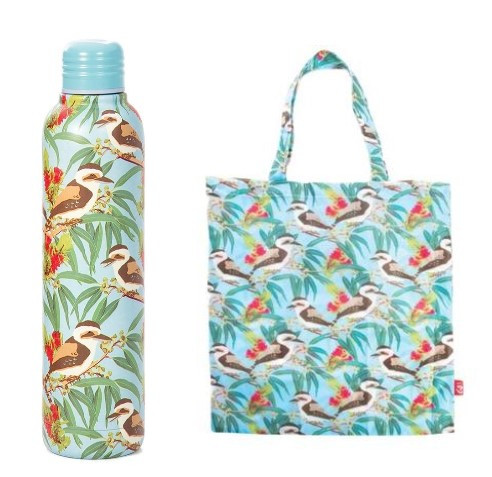 Promotion of Kookaburra Water Bottle and Foldable Bag codes 15078/15177