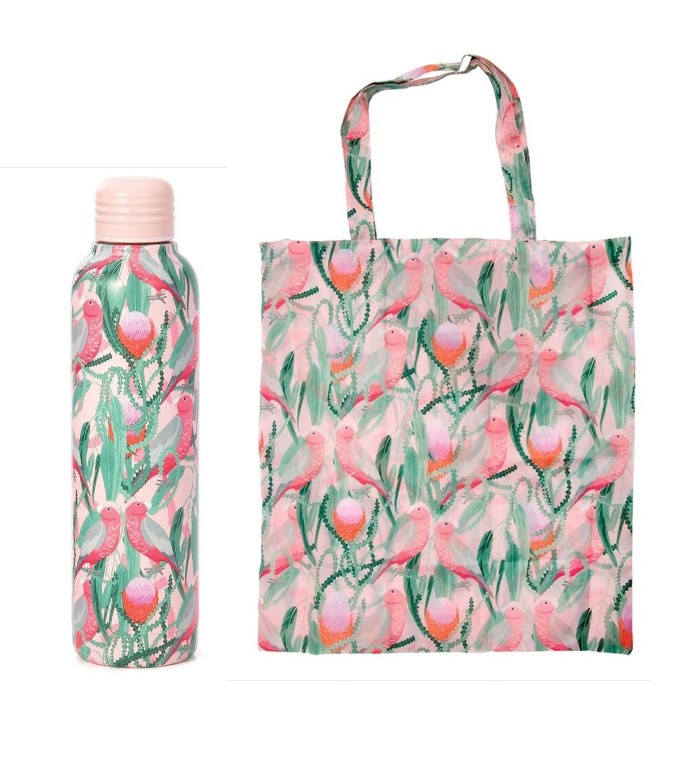 Promotion of Galah Water Bottle and Foldable Bag codes 15078/15177