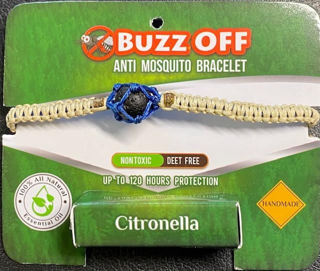 insect Repellent Citronella in lava Stone Bracelet Neutral wrap code CITBRA