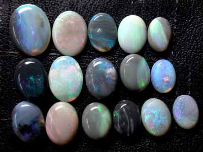 12.1 Cts   Parcel of 16 Australian  Black AND Crystal Opals   L189