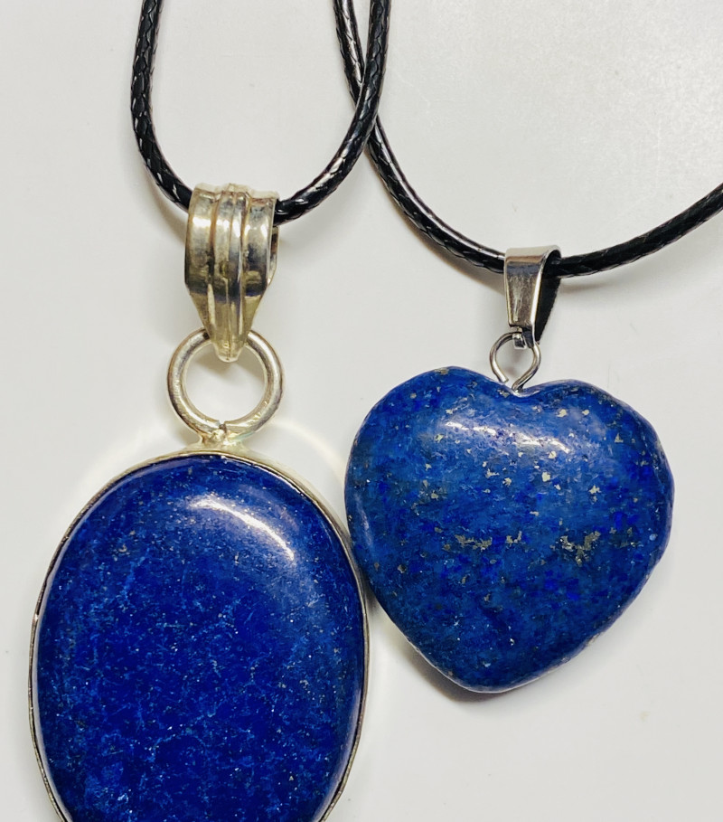 73 cts lapis lazuli-one  Pendant and Heart shape one CCC 221