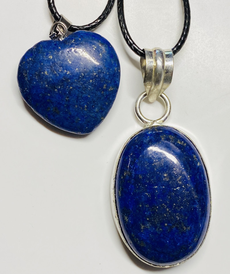 79 cts lapis lazuli-one  Pendant and Heart shape one CCC 222