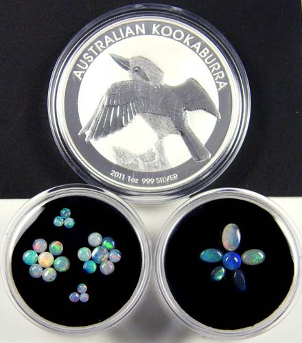 2011 TREASURES OPAL & KOOKABURRA SILVER COIN SERIES 5-100