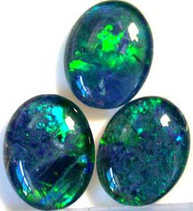 3.70 Cts Parcel of 3  Australian  Black Opal  A215