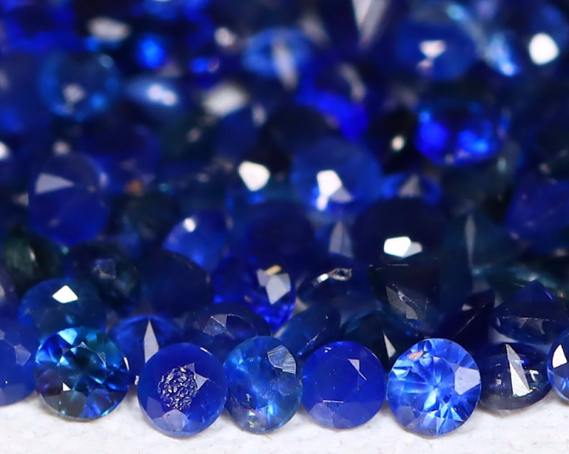 1.93 cts   Natural Sapphire  Parcel 1.3 mm code CCC 313