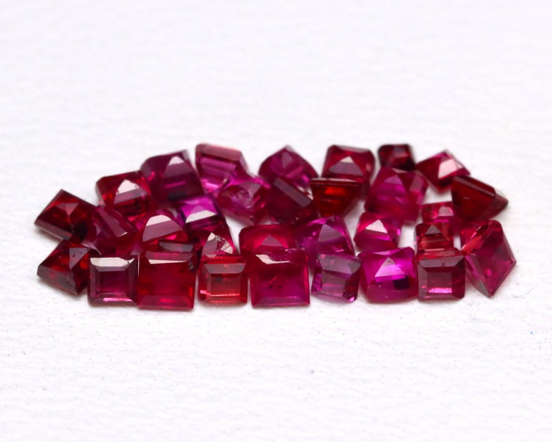 1.63 Cts Natural Burmese Ruby Parcel 1.8mm  code CCC 344
