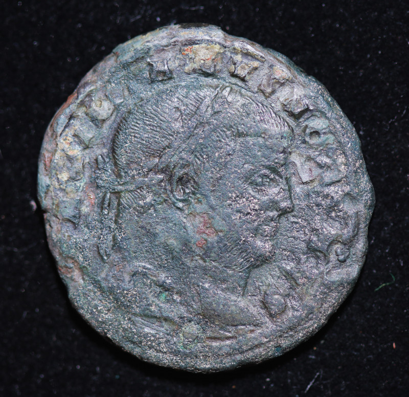 330 AD + Roman Byzantine large Bronze Follis Coin. code CP 657