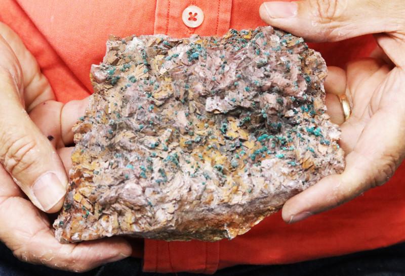 0.860 kilo  Moroccan malachite on dolomite Specimen  MM56