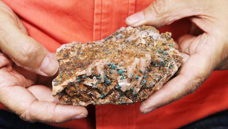 0.471 kilo  Moroccan malachite on dolomite Specimen  MM59