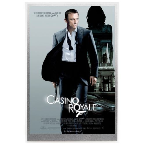 Movie Poster James Bond-Casino Royale -5G Silver foil