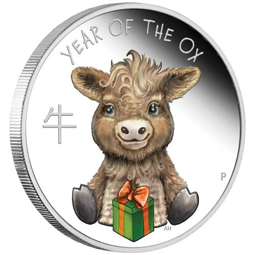 Lunar Baby Ox 2021 1/2oz Silver Proof Coin