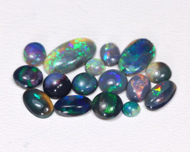 3.06 Cts  Parcel of 16  Australian  Black Opal  CCC418