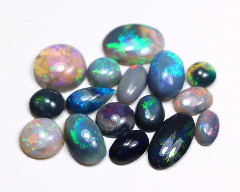5.71 Cts  Parcel of 16  Australian  Black Opal  CCC 426