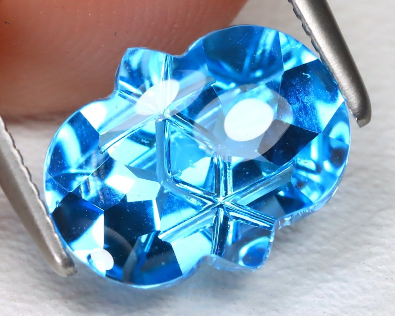 3.06 Cts Swiss Blue Topaz  CCC 503