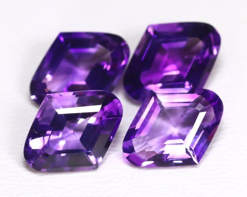 6.45 Cts Fancy Cut Violet Amethyst  CCC 525