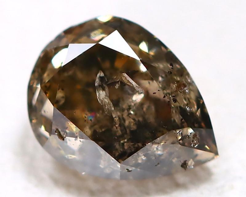 0.32ct  Salt and Pepper Fancy Diamond   CCC 536