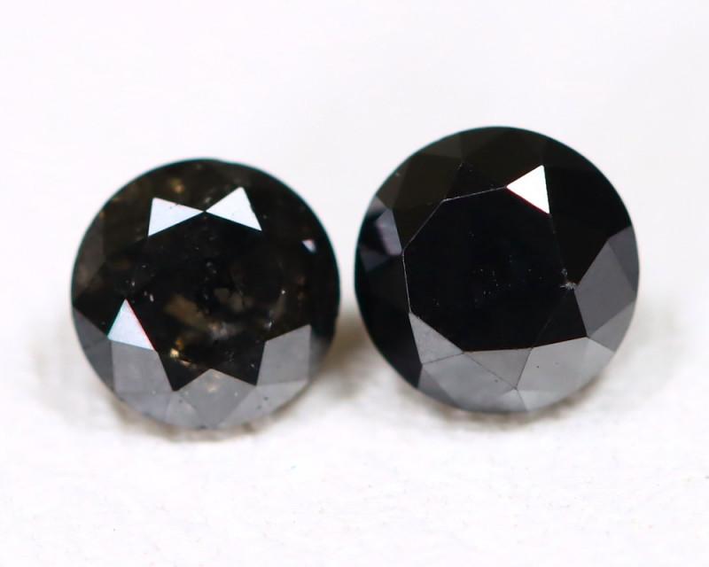 0.60ct Round 4.0mm Black Diamond  CCC 543