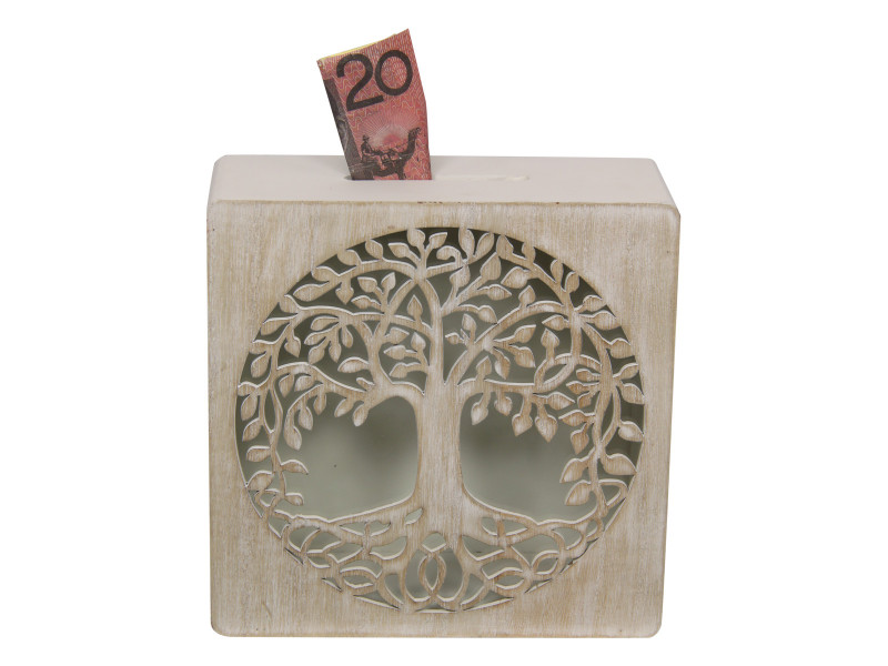 Decorative Tree Of Life Money Box   code TOLMB
