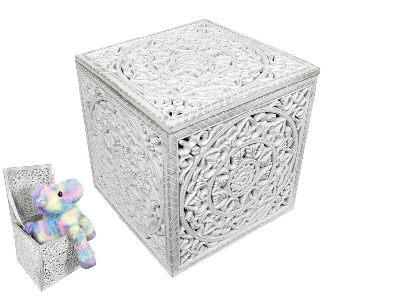 Toy Filigree Cube Storage Box  Code CUBEFIL