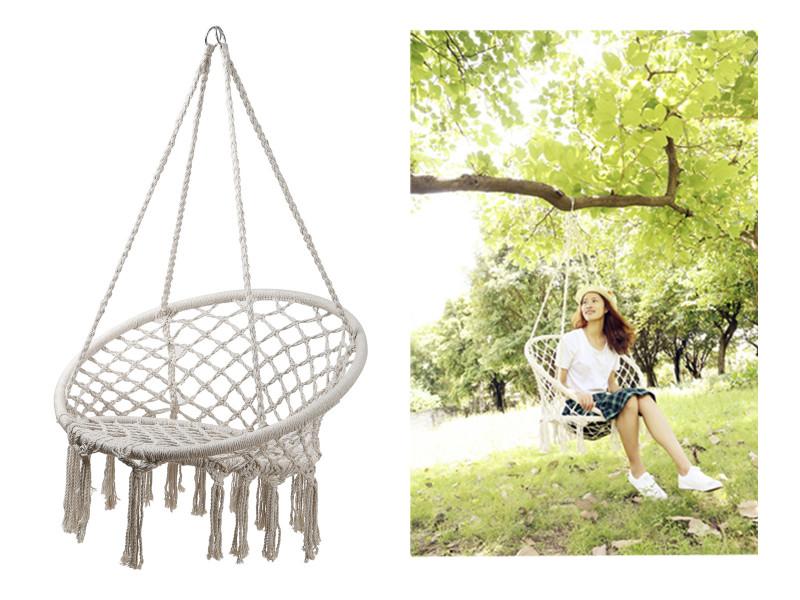 123cm Oval Macrame Hanging Chair  Code MACCHAIR