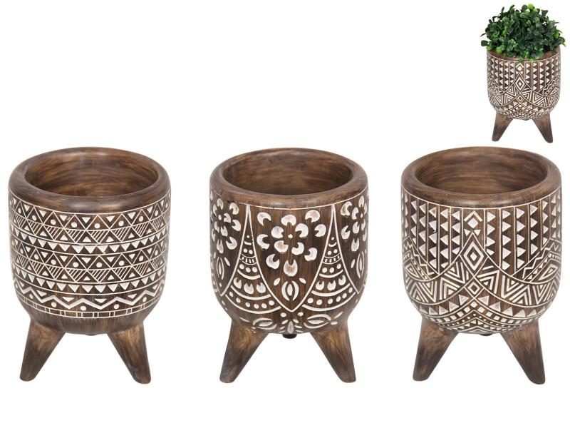 African Tribal Pattern Bowl  3pcs Code BOWLSYST