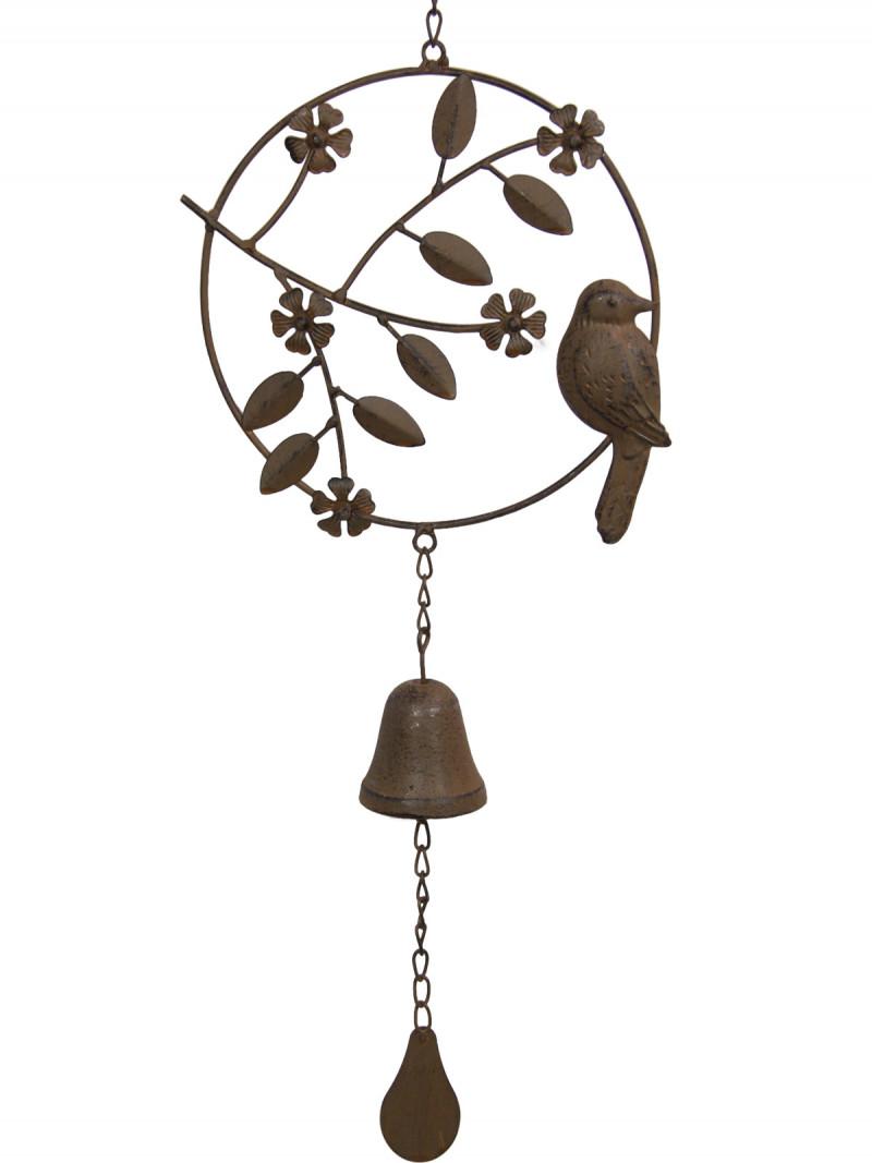 Farm Cast Iron Bird Wind Chime Code BIRDBELC