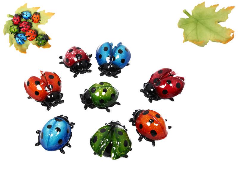 Colorful Ladybug on Leaf  48pcs  Code LBUGDX