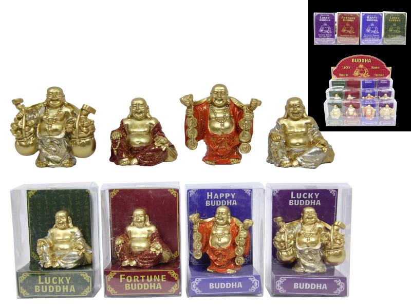 Lucky Buddha Display set 12pcs  Code BUDDLUCK
